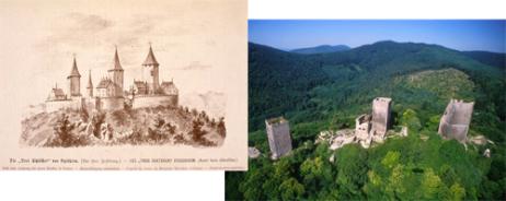 the three châteaux of Eguisheim